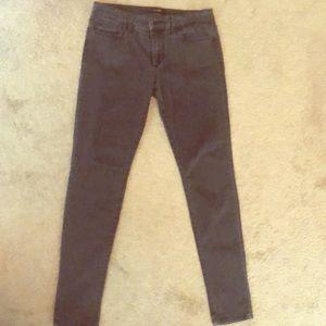 Dark gray Joe's skinny jeans